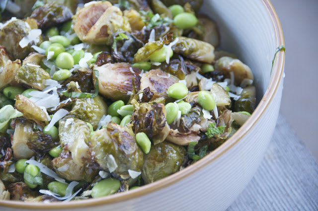 see you in the morning: brussels sprouts + edamame with ...