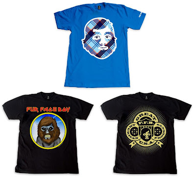 Fur Face Boy Series 5 - FFB Blue Plaid, Fur Face American & Fur Face Maiden T-Shirts