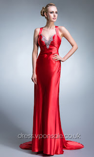 Long  Dress on Red Long Sweep Train Promdresses