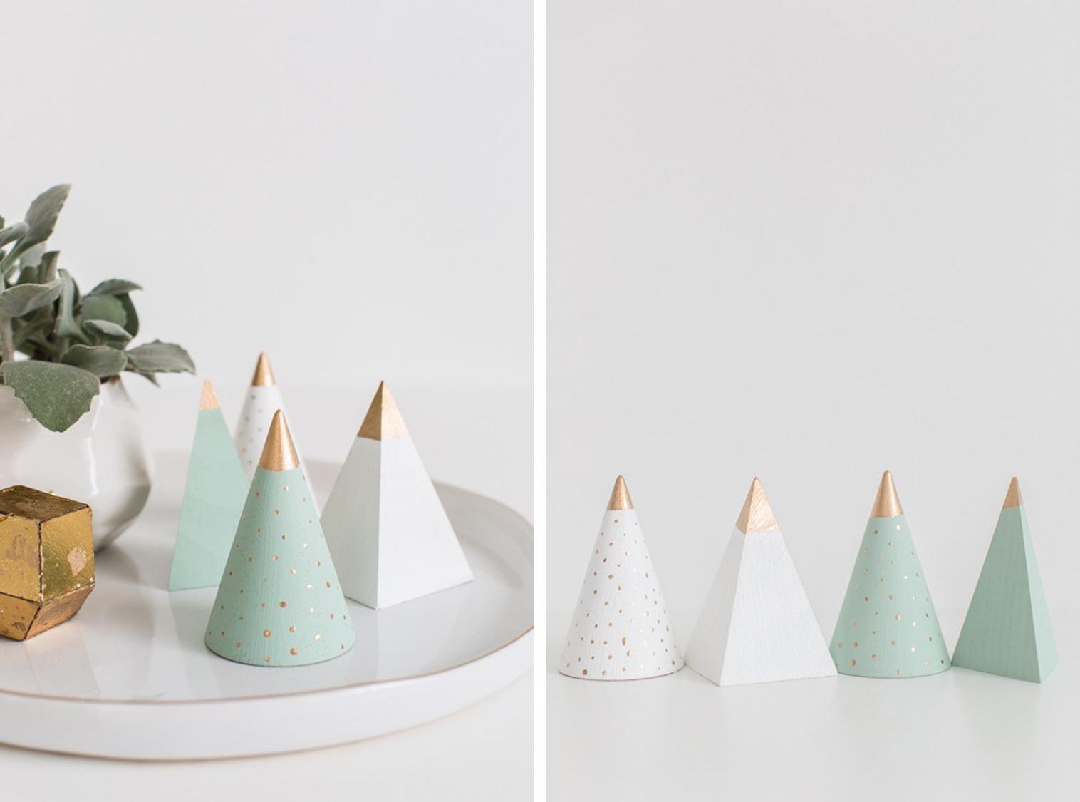 Decoraci n f cil mini arboles de navidad en color pastel - Arboles de navidad colores ...