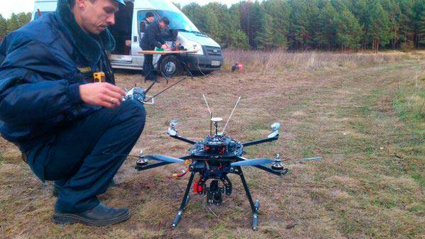 Квадрокоптер ищет заблудившихся Сергиев Посад