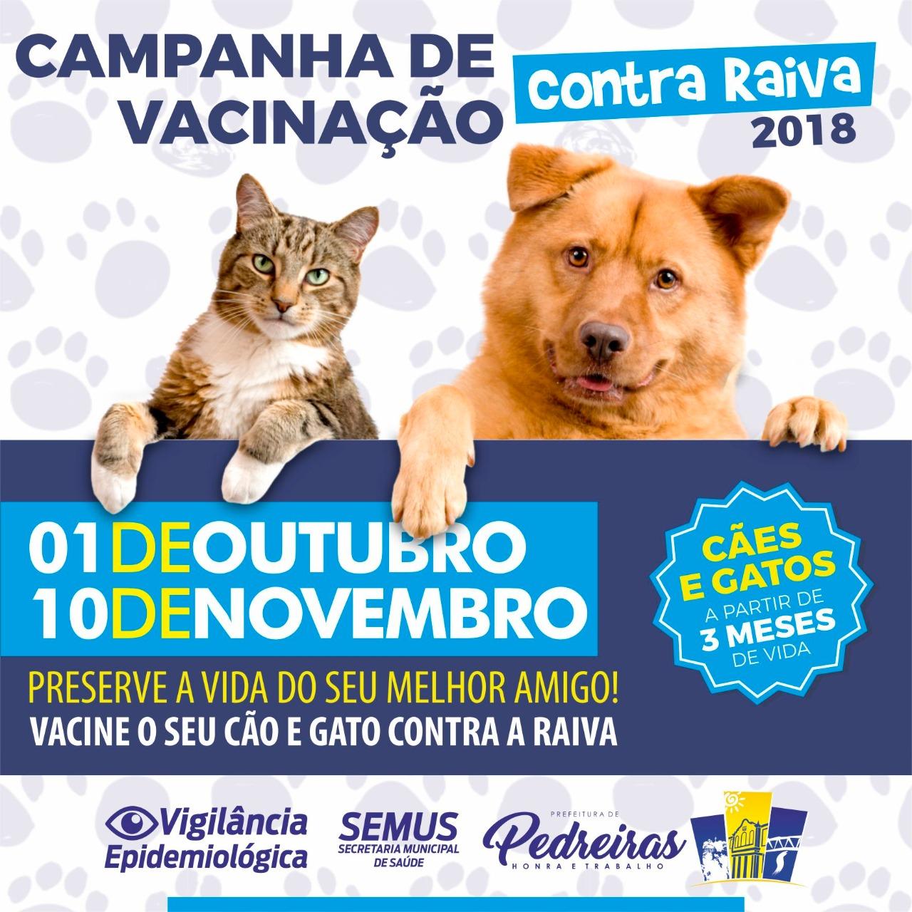 CAMPANHA DE VACINAÇÃO CONTRA RAIVA