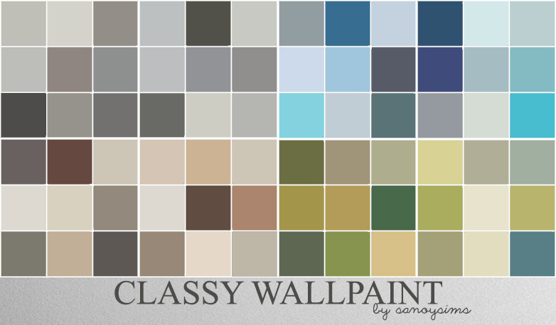 My Sims 4 Blog Classy Wall Paint Wallpaper In 100 Colors