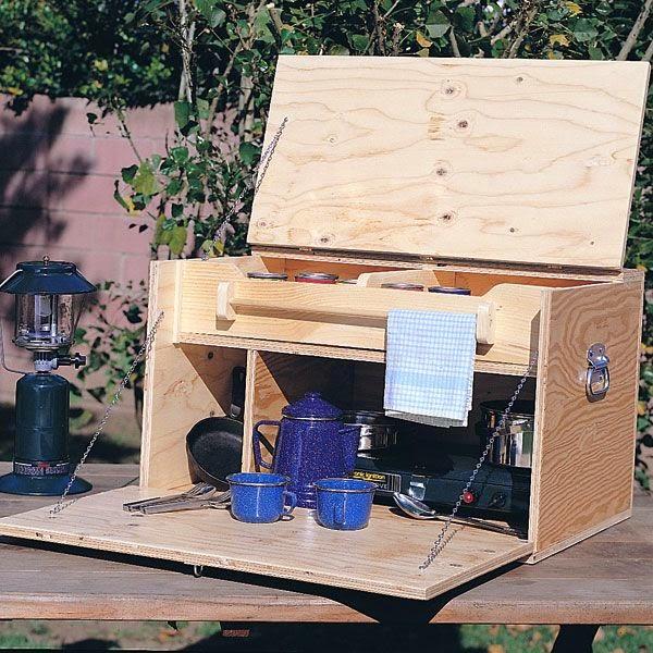 Camping Kitchen : Tiny Yellow Teardrop: Woodcraft Camp Kitchen