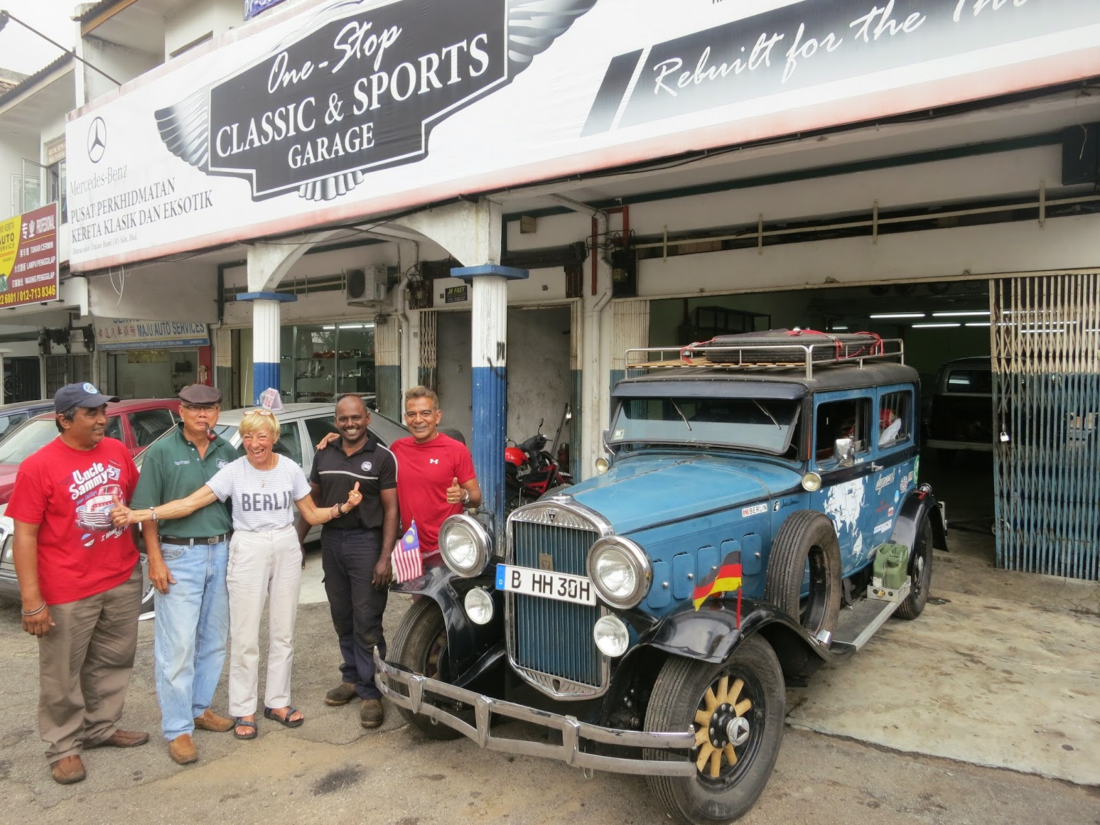 Peggy Loh ~ My Johor Stories: Around the world in a vintage car