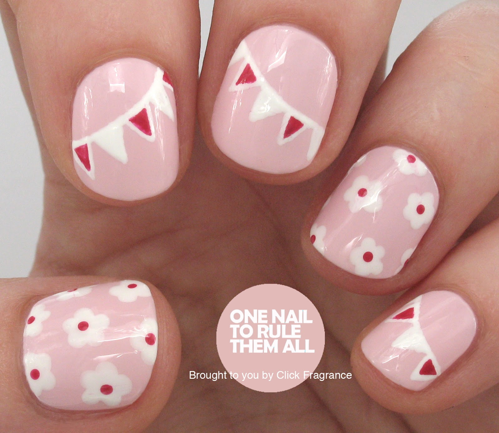 One Nail To Rule Them All: Tutorial: May Day Nails with Click Fragrance
