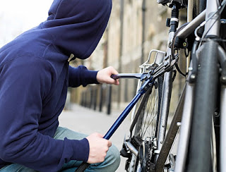 Bike Thief Stealing Bicycle