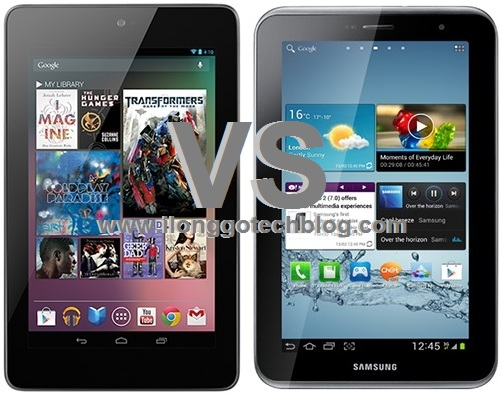 the google nexus 7 and the samsung galaxy tab 2 7 0 wifi both tablets
