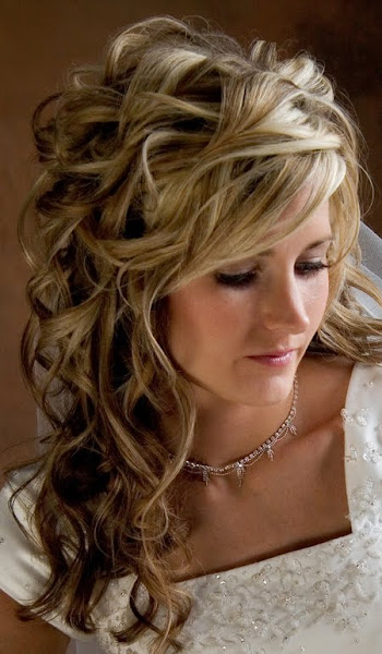 Wedding hairstyles for long hair with flowers 2012 MODE