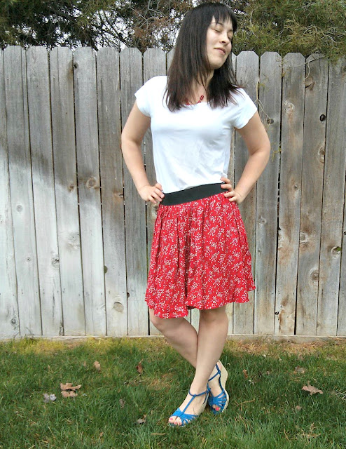 DIY dress to skirt refashion