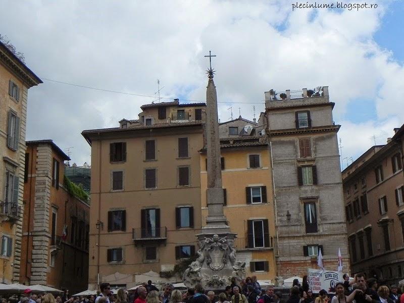 Piazza della Rotonda in fata Pantheonului