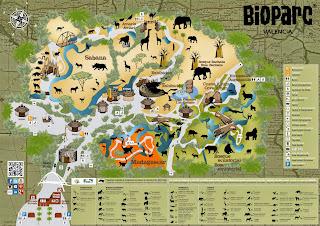 Plano Bioparc Valencia.