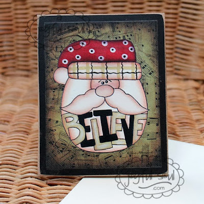 Believe Santa Mini Inspirations Art Card designed by Sue Allemand, www.ajoyfulsoul.com