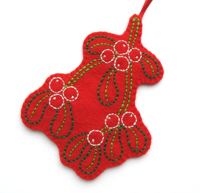 https://www.etsy.com/listing/214026786/embroidered-mistletoe-ornament-felt