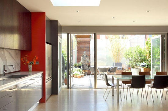 The Views Of Outdoor Patio And Wall Garden Can Be Enjoyed Through The  Dining Room As Well As Bedroom. Modern Interior Design 2012