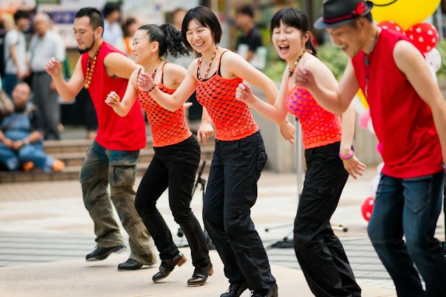 町田大道芸、タップダンス ナイル川漁業組合