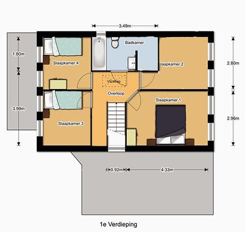 Verbouwing woning Almelo: Masterbedroom en badkamer met sauna