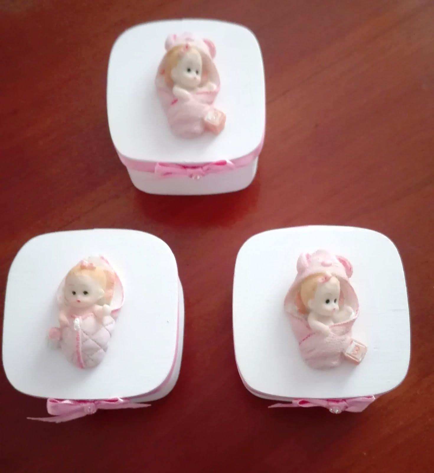 Caixinhas para lembranças de bebé