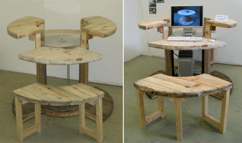 Manos a la obra: como reutilizar un carretel de cables y mas muebles ...