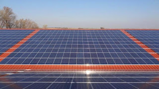 Solar Panels on Warehouse Roof