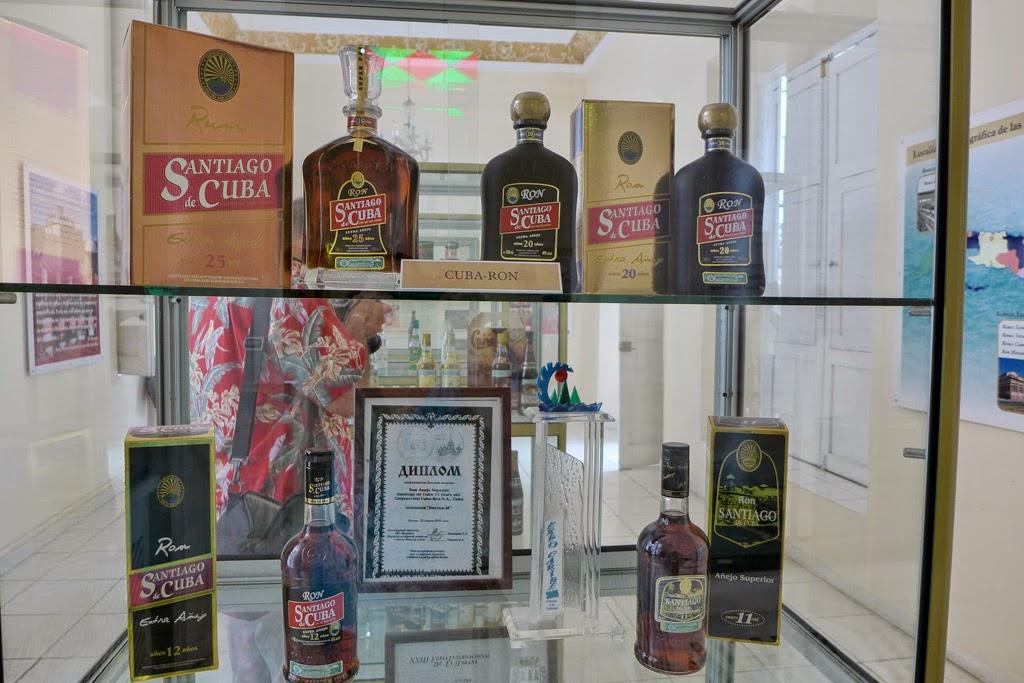 Santiago de Cuba rum bottles at Museo del Ron