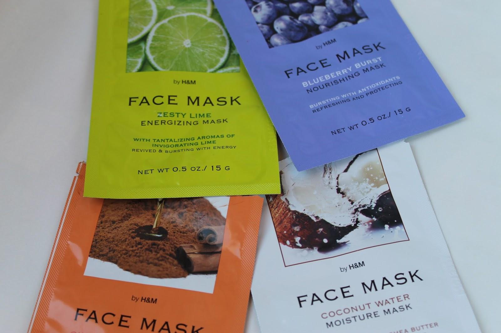 H&M pleťové masky