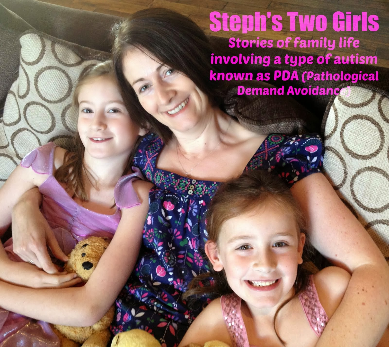 http://www.stephstwogirls.co.uk/ Steph is a Mum of two little girls, one of whom has a diagnosis of PDA