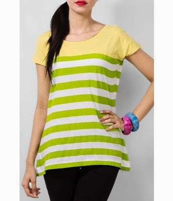 latest and stylish summer wear tops for girls by yellow
