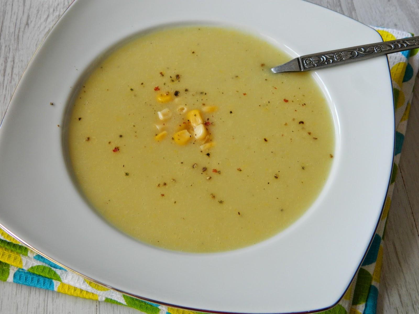 Supa crema de cartofi cu porumb