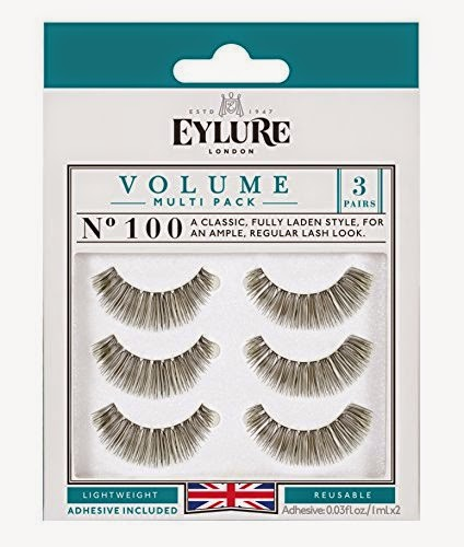 Eylure Naturalites #100 False Eyelashes, Black