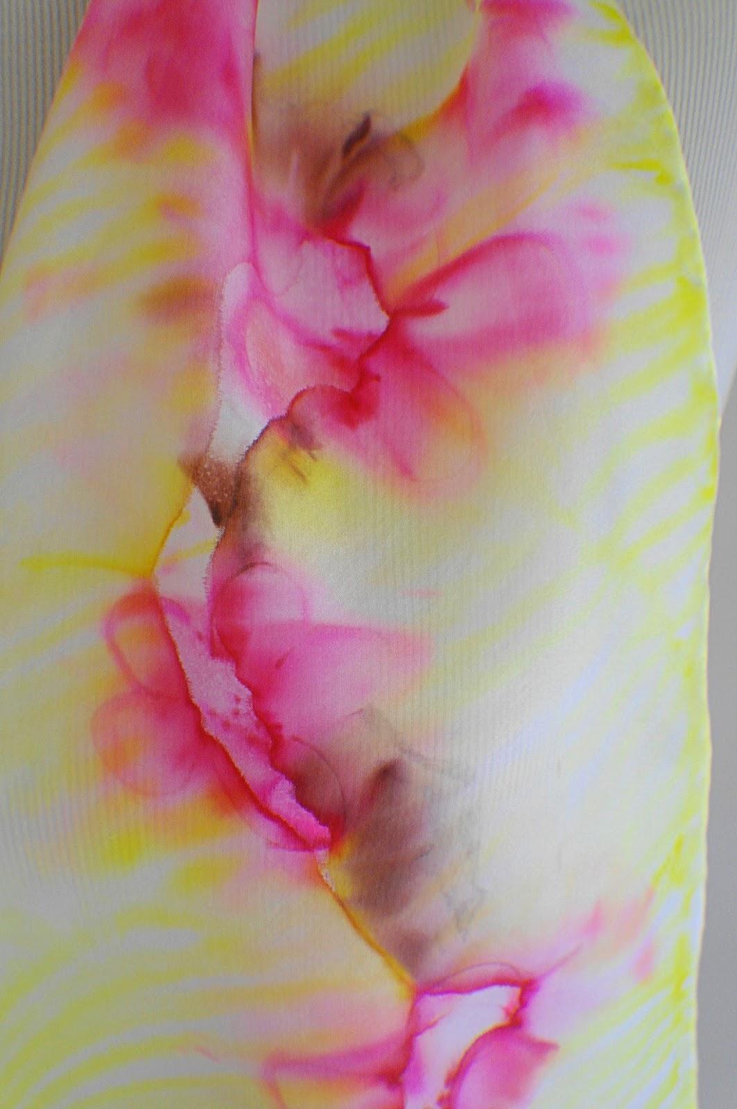 Sue Runyon Designs Playing Around Hand Painted Silk Scarf