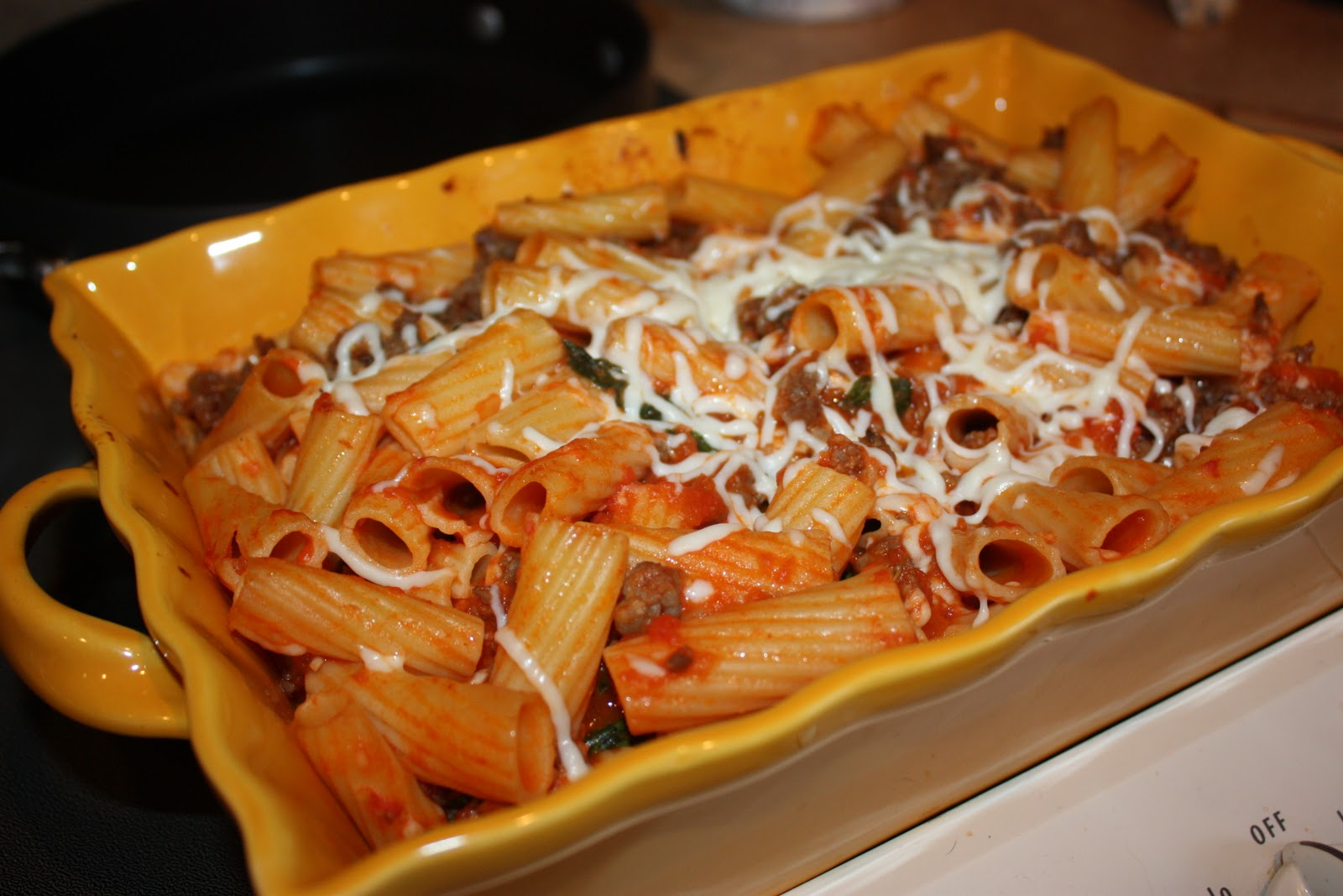 cooking with crystal: Easy Rigatoni Casserole