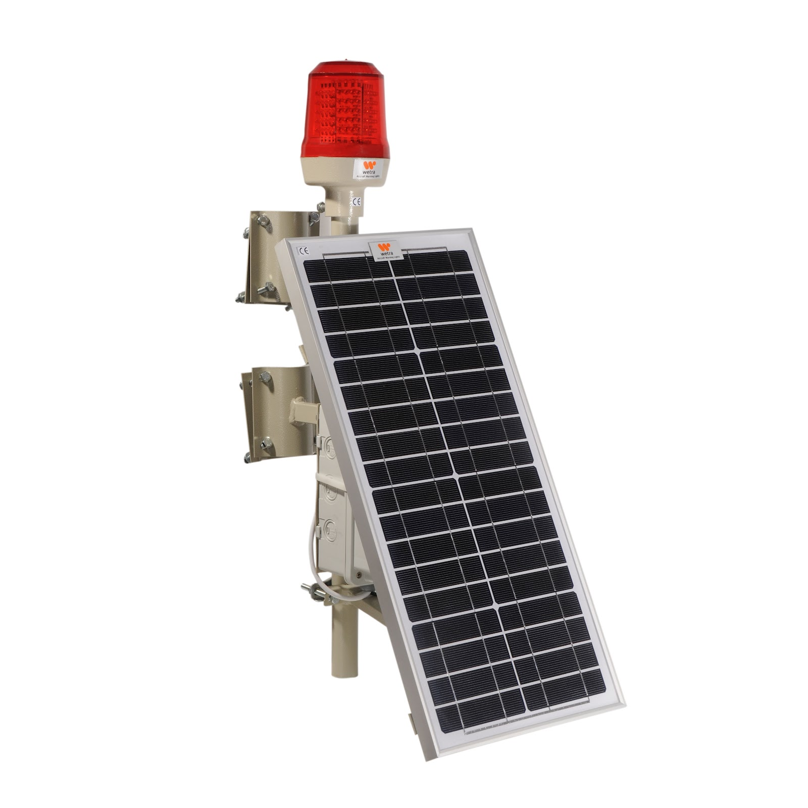 güneş enerjili kırmızı flaşörlü uçak ikaz lambası