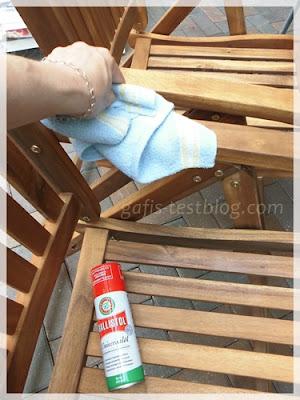 Ballistol zur Holzpflege