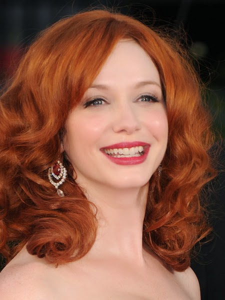 ruby earrings worn by christina hendricks
