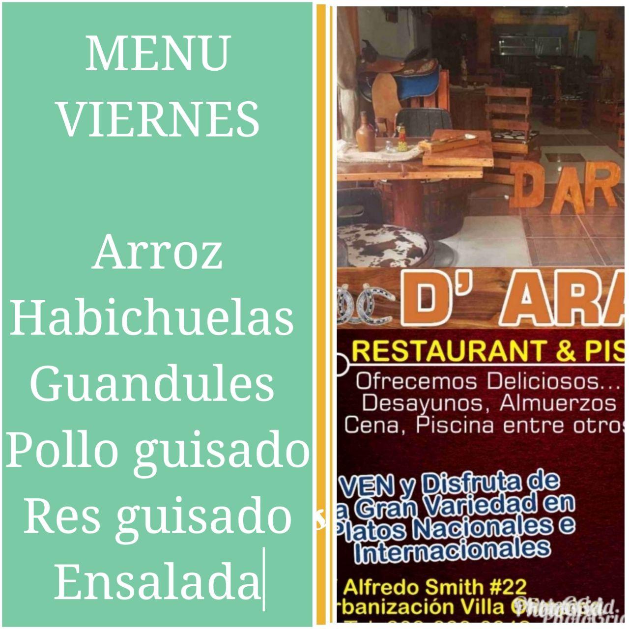 BAR Piscina ARA.  En la Calles Lafredito SMITH  # 22 cerca hotel la Villa,  INVI CEA