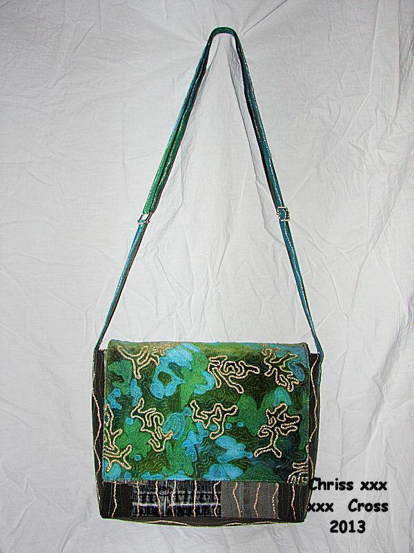 Quilt Tassen : Chriss cross textile art tassen