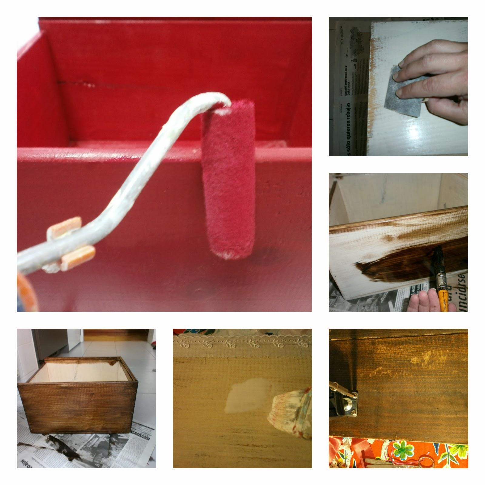 estantes estanterías y ahí empezó el calvario pintamos envejecimos  #A66725 1600x1600