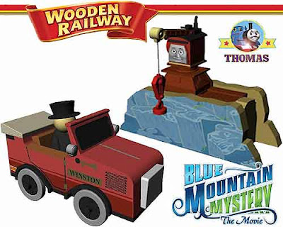 Learning Curve 2012 Thomas wooden railway Merrick the crane and wooden railway Luke the tank engine