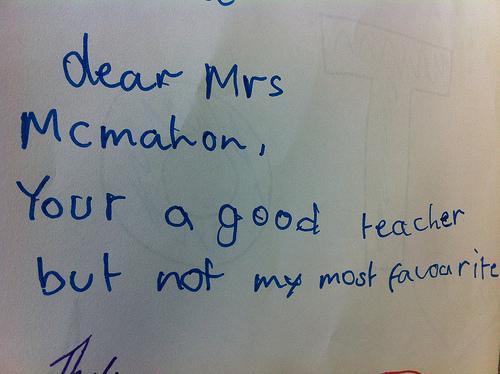 Will my teacher forgive me?