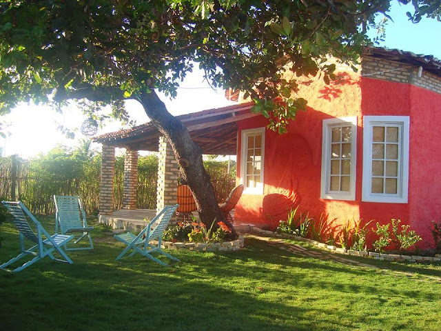 casa rustica com gramado