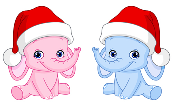 Holiday Elephants Icon