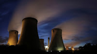 Drax Power Station in northern England is burning wood pellets in three of its six boilers. (Credit: Rajan Zaveri) Click to Enlarge.