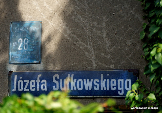 tabliczna Warszawa Żoliborz Osiedle Dziennikarskie Polkowo Warsaw wille
