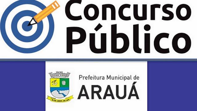 Estão abertas as inscrições para o Concurso Público da Prefeitura de Arauá (SE)