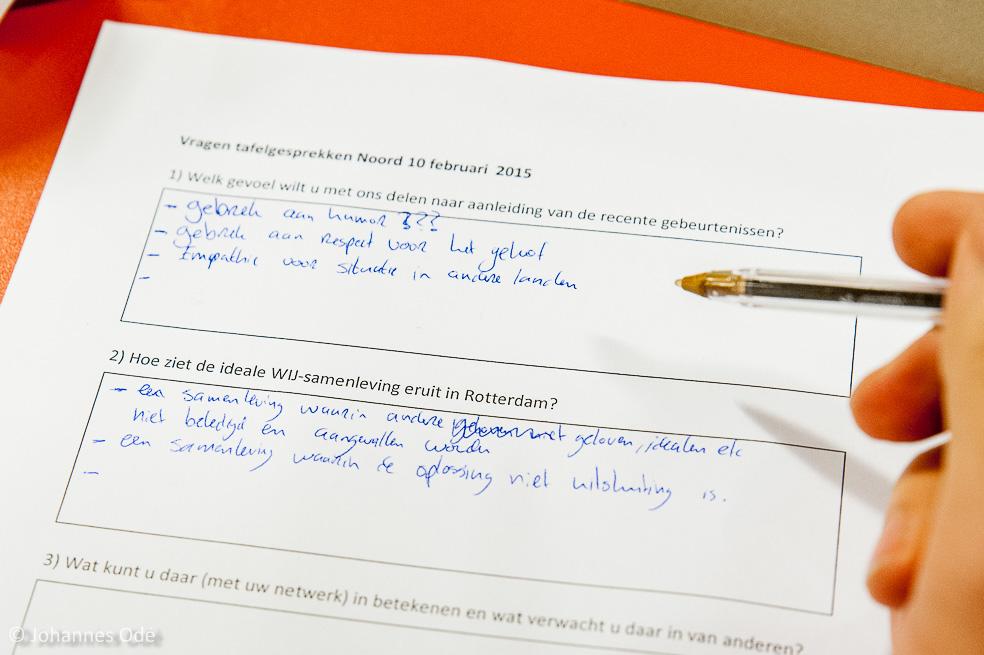 Noord010inbeeld debat in noord naar aanleiding aanslagen for Rotterdammers voor elkaar