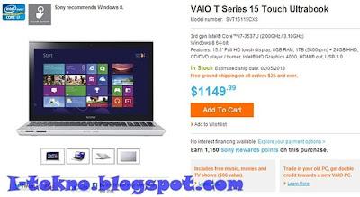 Ultrabook Windows 8 | Sony Vaio T14 dan T15