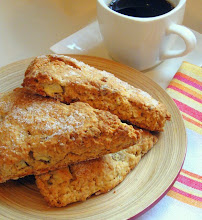 Nibble on a Hearty Apple Oatmeal Scone . . .