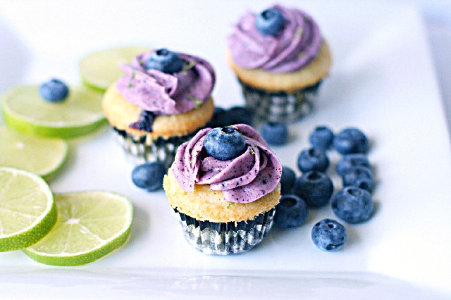 Lime Blueberry Cupcake Recipe