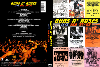 rock show dvd guns n roses live era 8793
